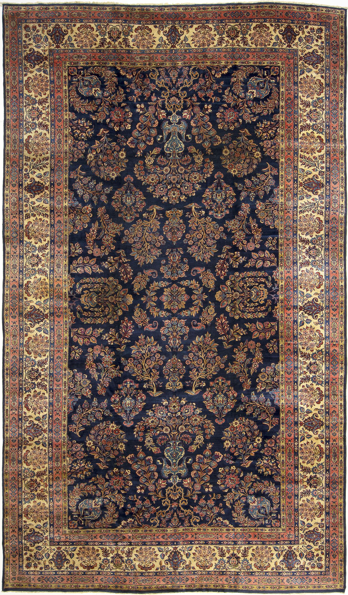 """Kashan Carpet 17' 6"""" x 10' 2"""""""
