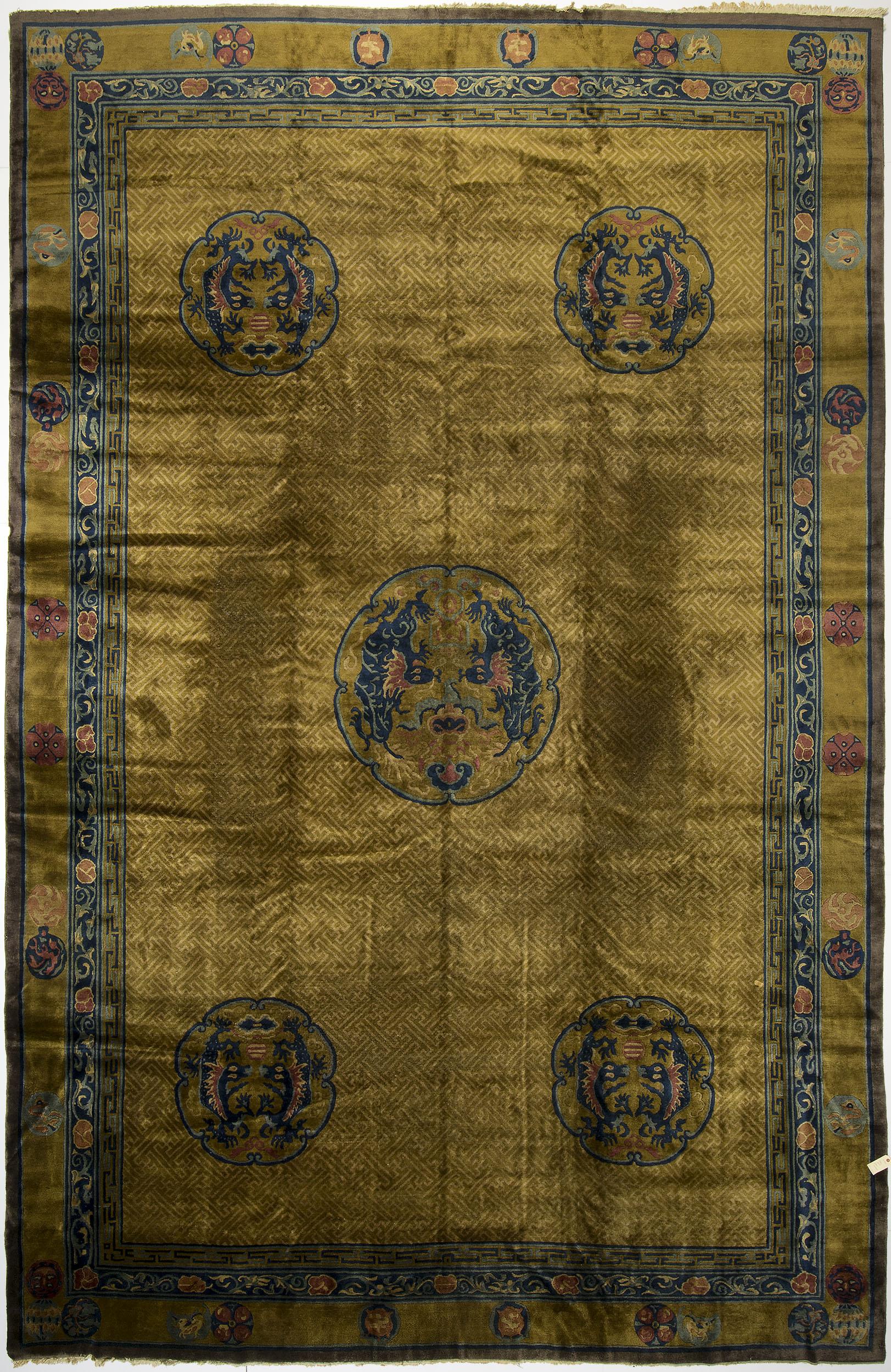 "Indo-Chinese Carpet 19' 1"" x 12' 3"""