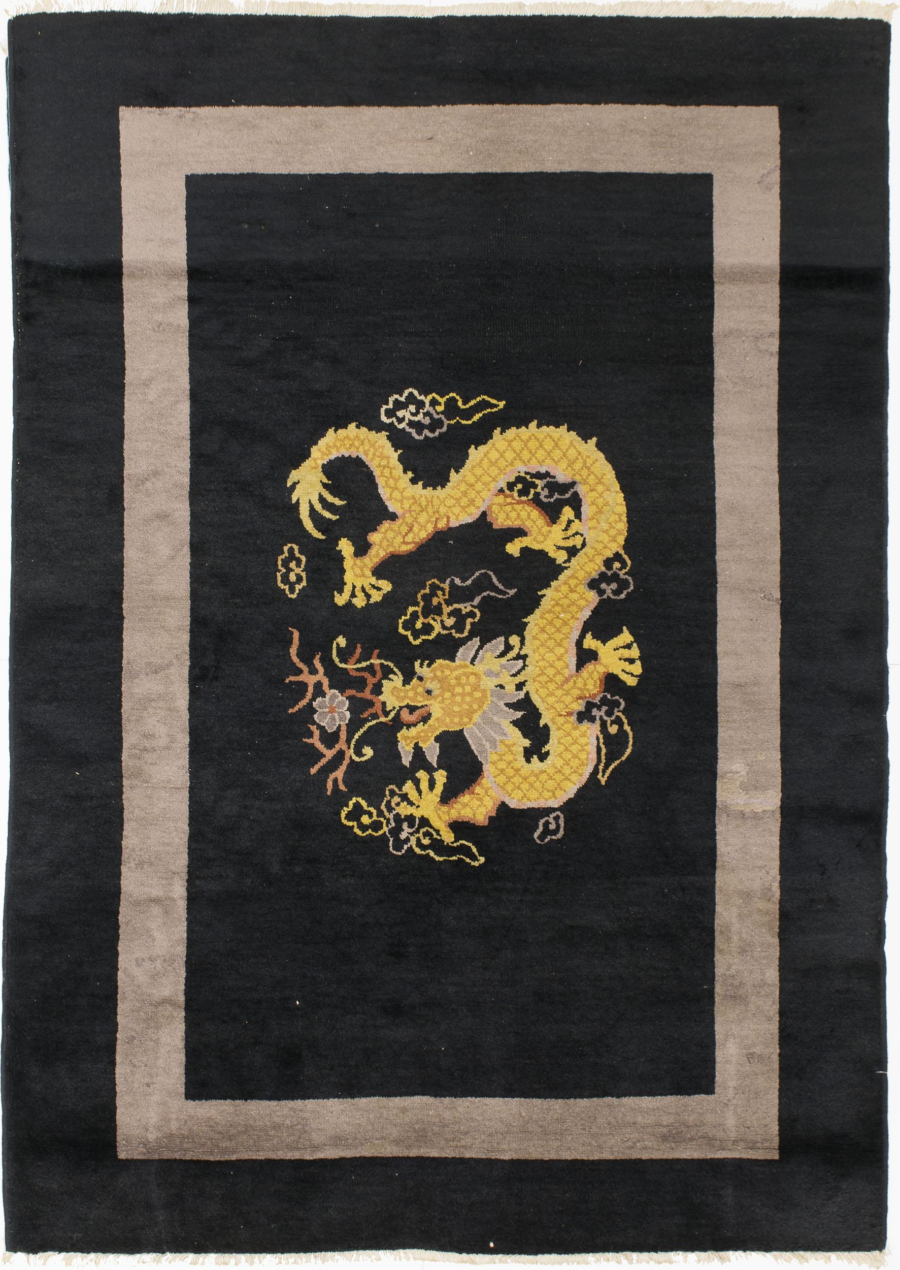 "Chinese Dragon Rug 5' 9"" x 4' 3"""