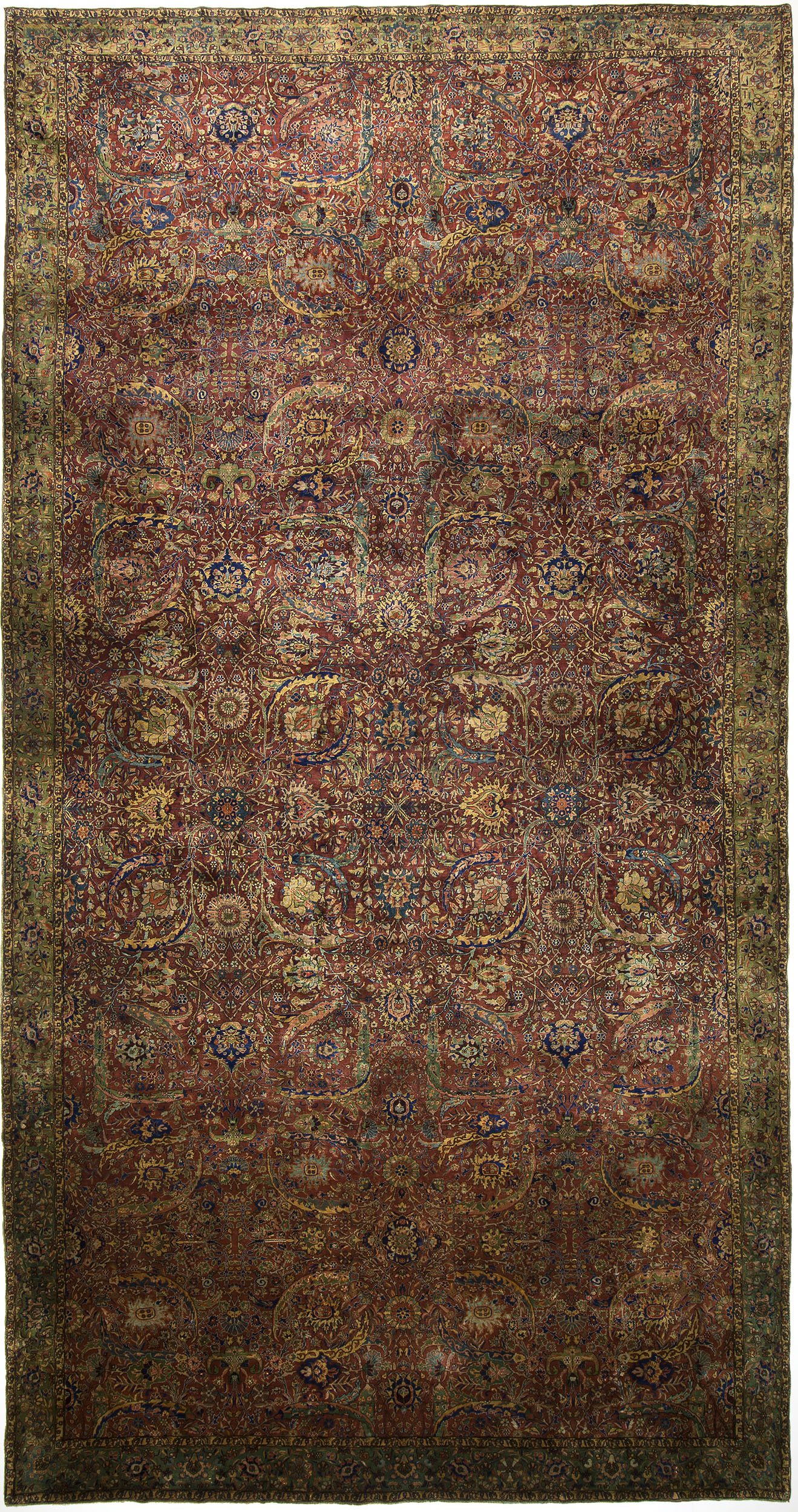 "Indo-Tabriz Carpet 23' 1"" x 11' 10"""