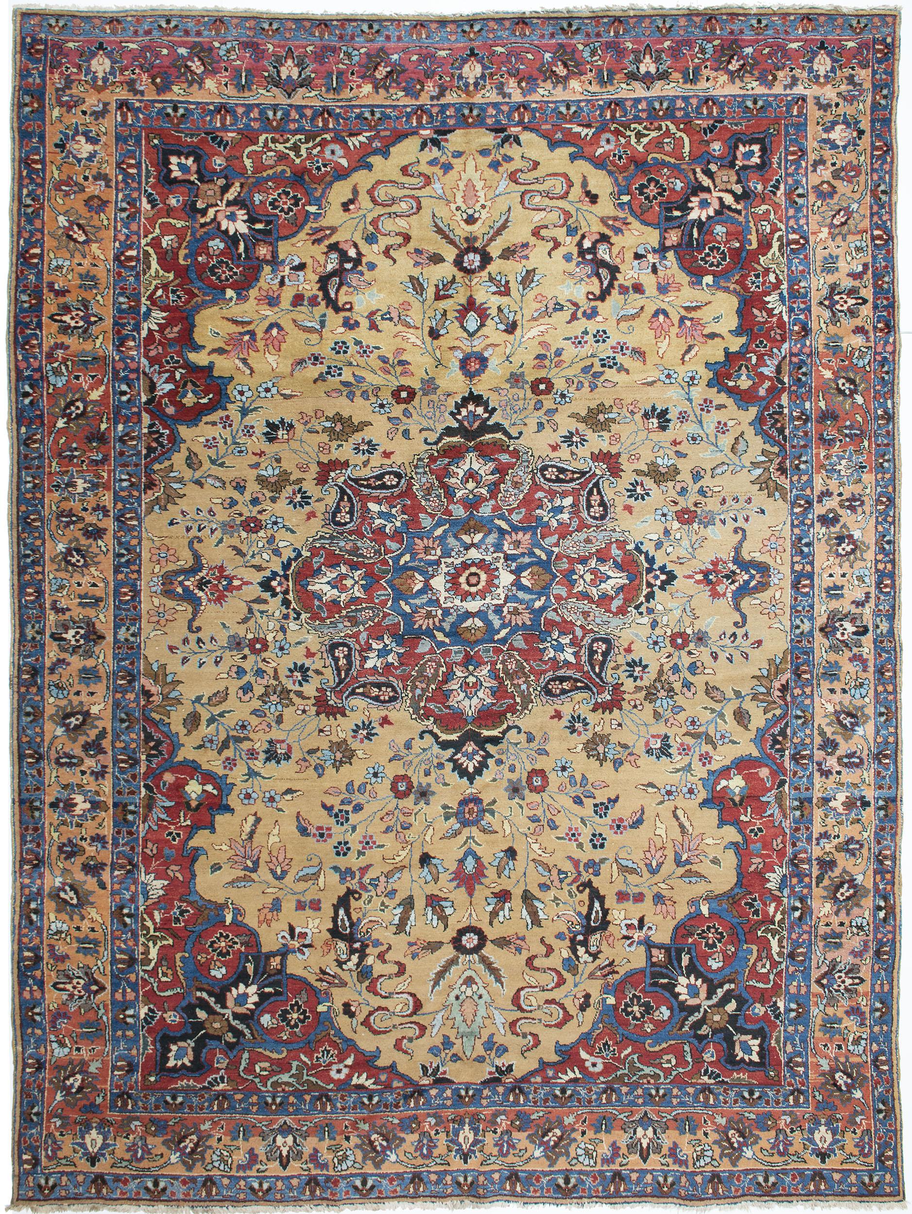 """Tabriz Carpet 12' 5"""" x 9' 1"""""""