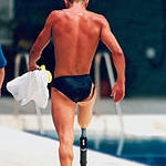 Australian swimmer Brendan Burkett at the 1996 Summer Paralympics in Atlanta, USA  Photo by  Australian Paralympic Committee  under  CC BY-SA 3.0