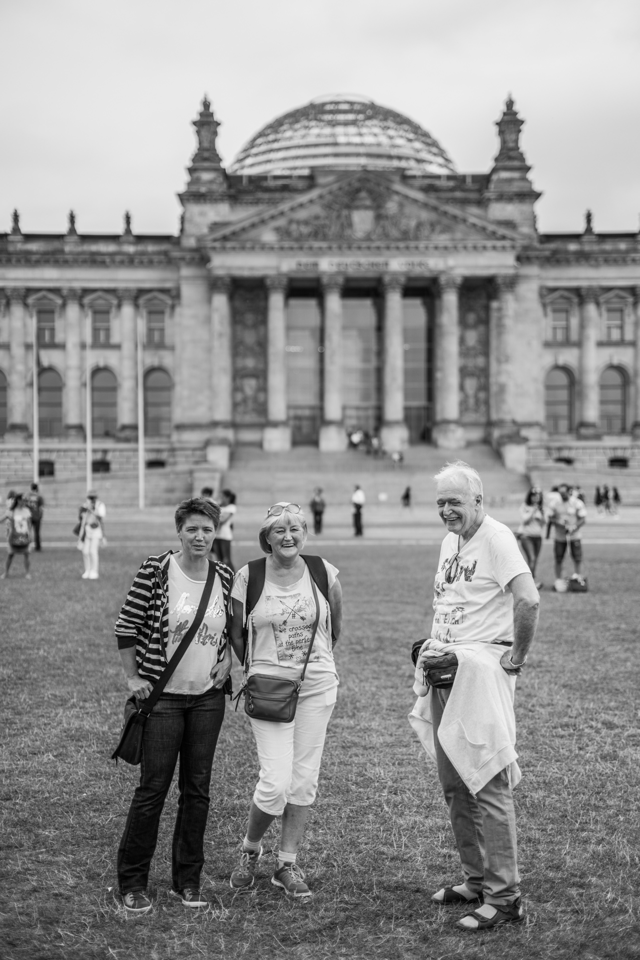 My sister and parents at the Reichstag