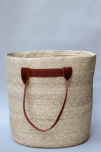 LEATHER HANDLES BASKET
