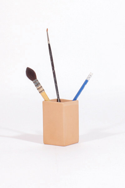 CLAY SQUARE PENCIL HOLDER