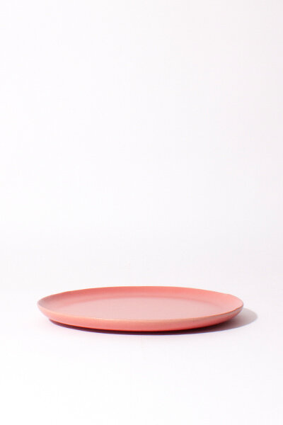 PINK CERAMIC PLATES / SET OF 4