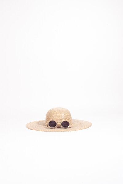 NATURAL PALM HAT