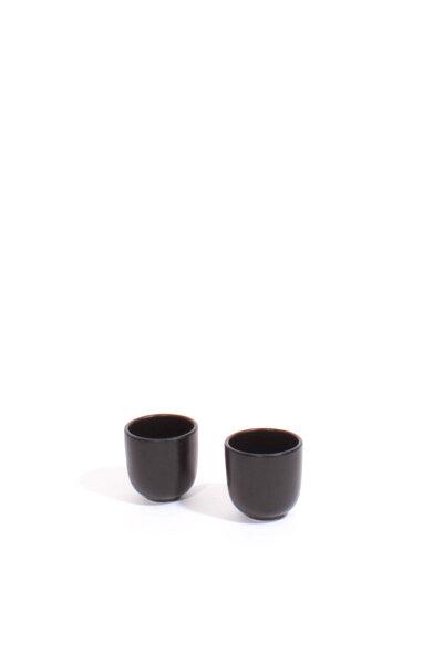 BLACK CERAMIC DANISH CUPS / SET OF 2