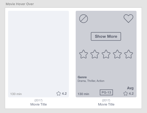 Movie tile hover