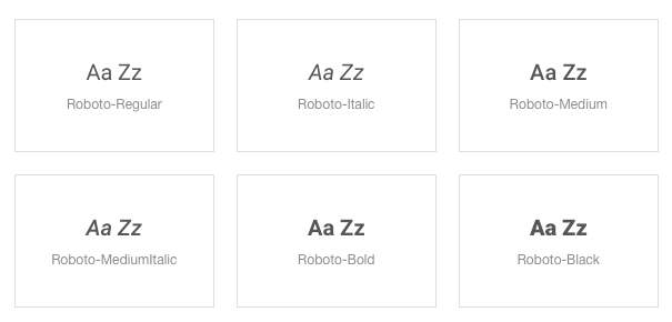 Choosing Roboto as the main typeface, I am able to satisfy user with legibility and clean look. The font works great on any type of screen.
