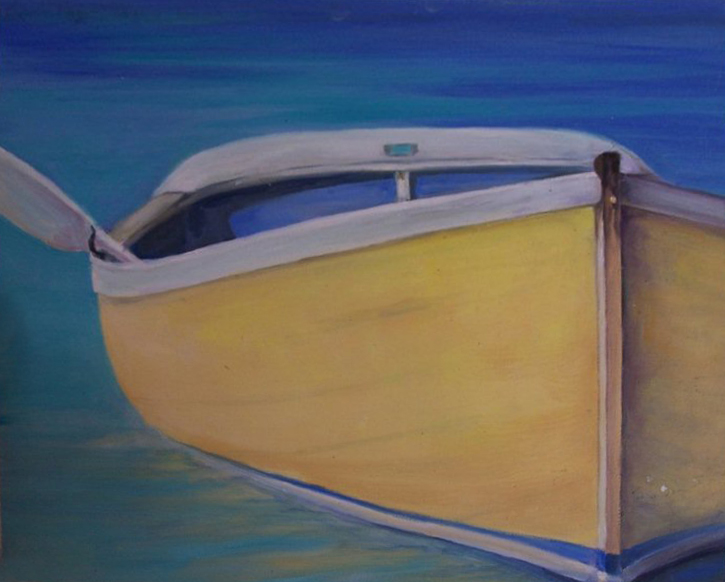 "Abaco Boat 11"" x 14"""