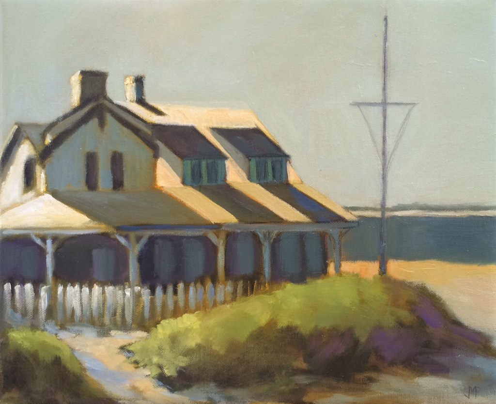 "House at Brant Point 11"" x 14"""