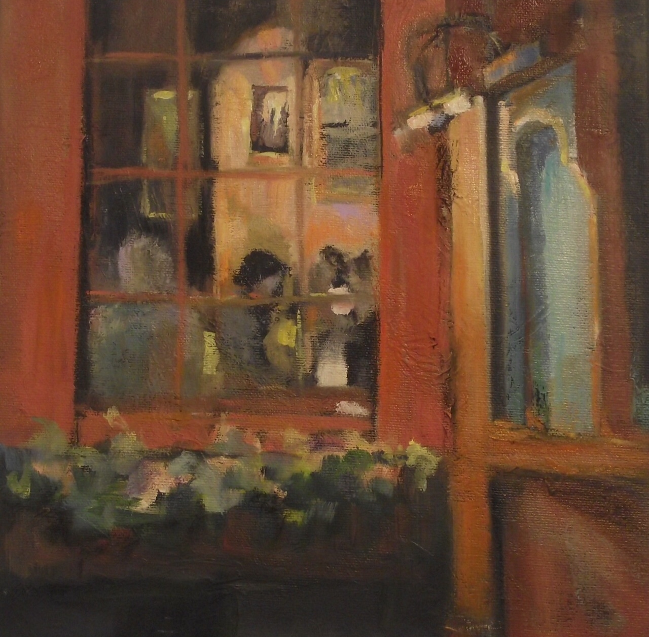 """Dinner Out 10""""x 10"""""""