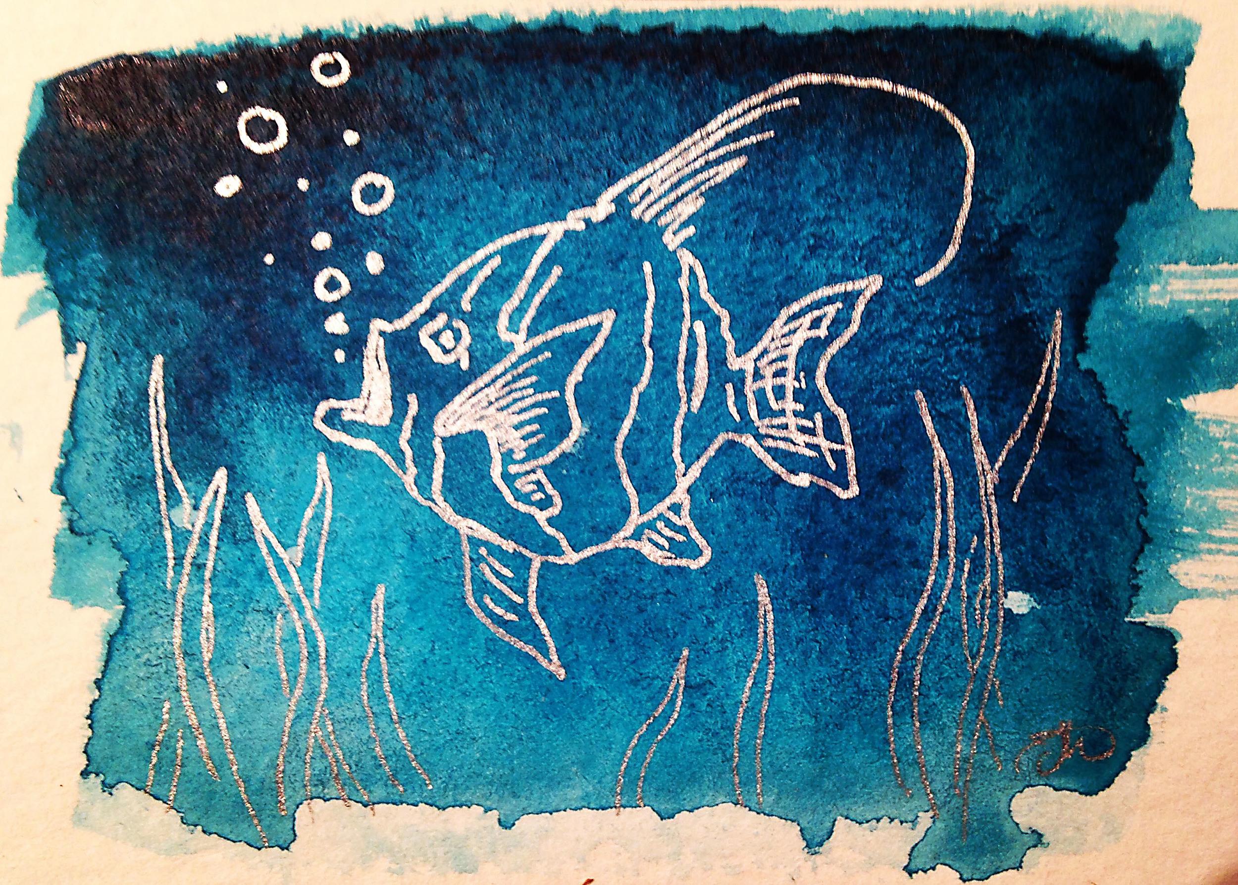 Day 6, 'Zanclus cornutus or Fishie'