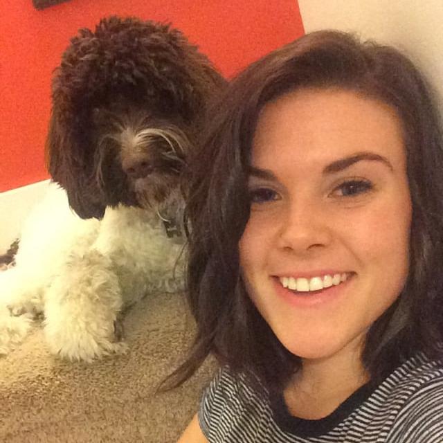 Alana with her dog, Theodore