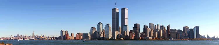 New York Skyline from Liberty Park. 1998.