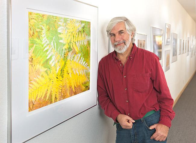 Stephen Johnson in his gallery. Photo by  Bobbi Lane .