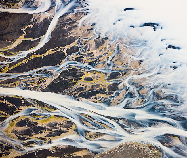 Melting Hilltop Glacier. Iceland.