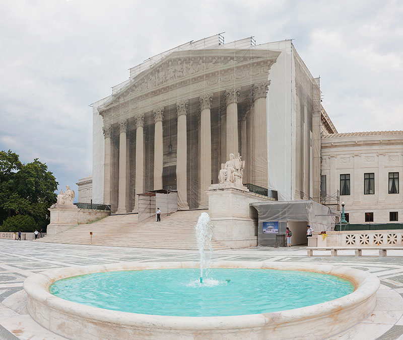 Supreme Court Cloaked. Washington DC. 2013. Canon 1DS III.