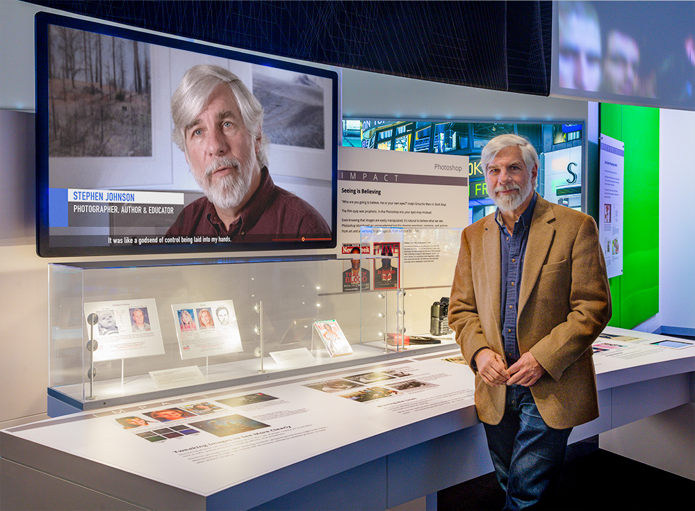 Steve with the Interpretive Photoshop Video.  Computer History Museum. Mountain View, CA. 2017 Canon EOS-5DSr.