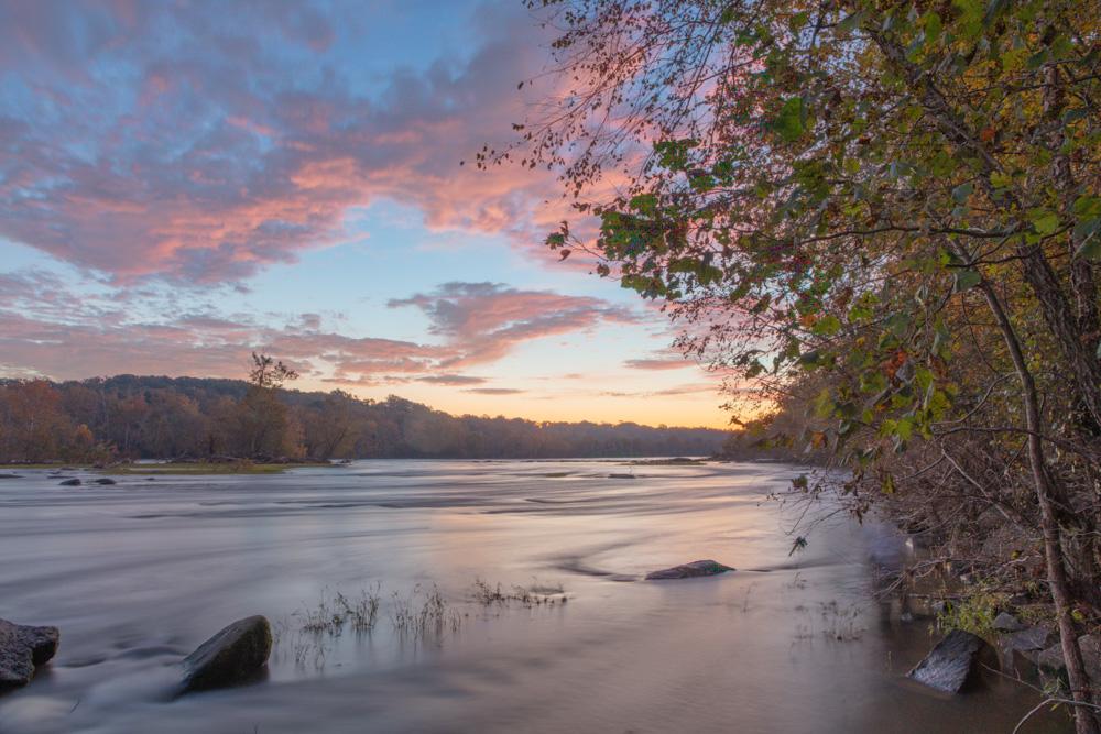James River Dawn. Richmond., VA. 2018.James River Dawn. Richmond., VA. 2018. Canon EOS 5DS. R.