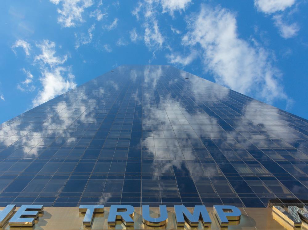 Skyscraper with Trump logo. New York City. 2018. Canon EOS 5DS. R.