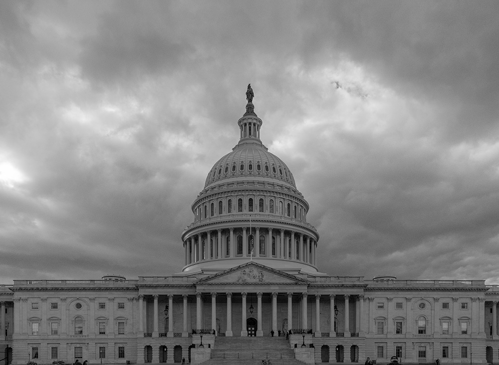 US Capitol under Stormy Skies. 2018. Canon EOS 5DS R.
