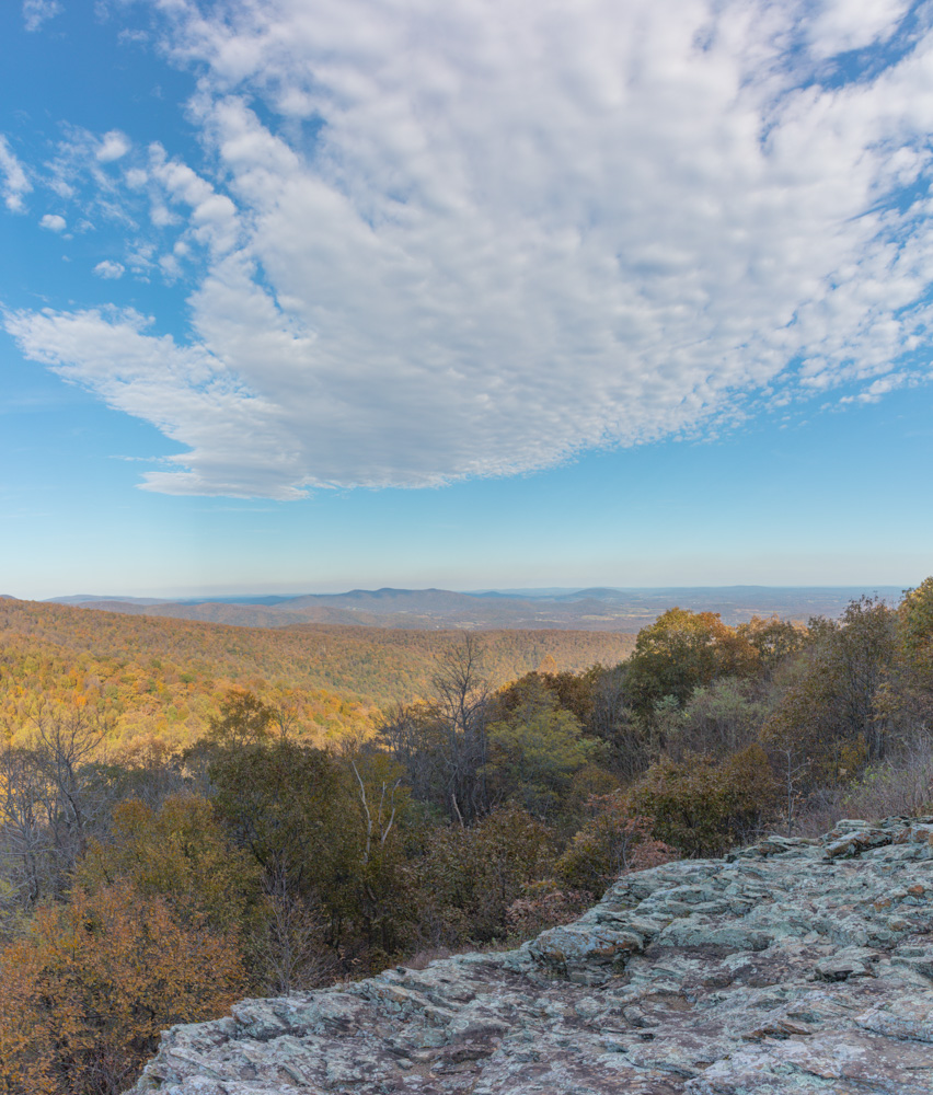 Looking to the northeast from Skyline Drive. Shenandoah National Park. 2018. Canon EOS 5DS R.
