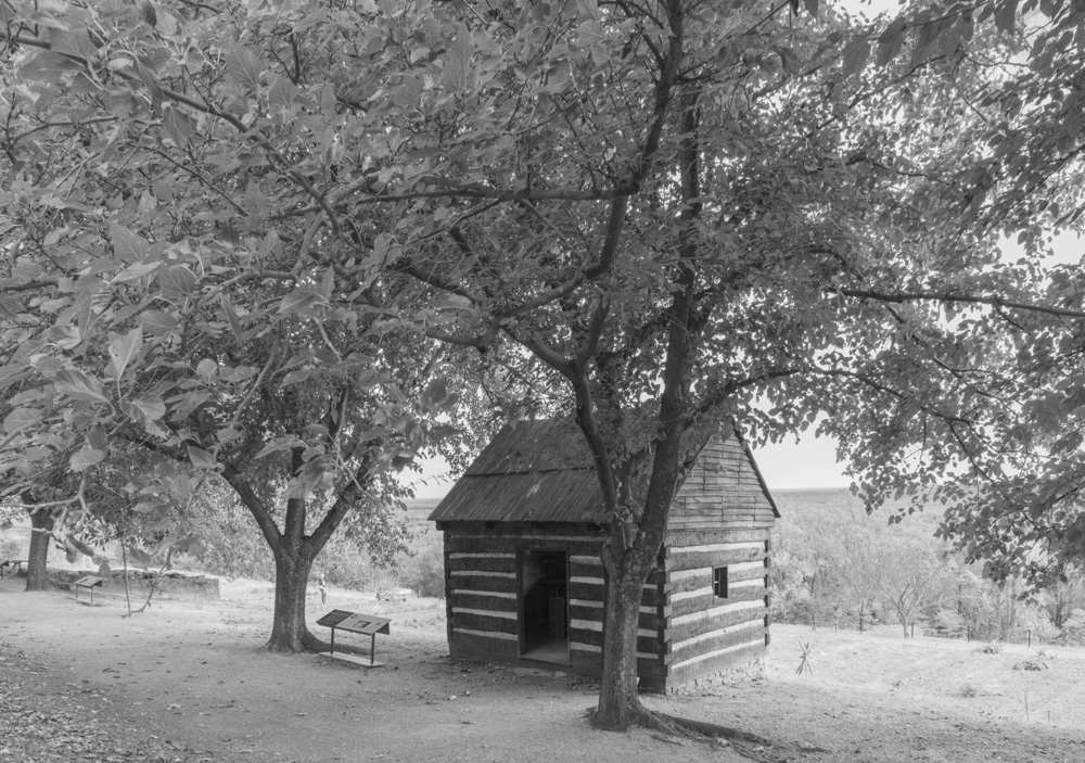Reconstructed Workshop, similar to Slave Cabins. Monticello, VA. 2018. Canon EOS 5DS R.