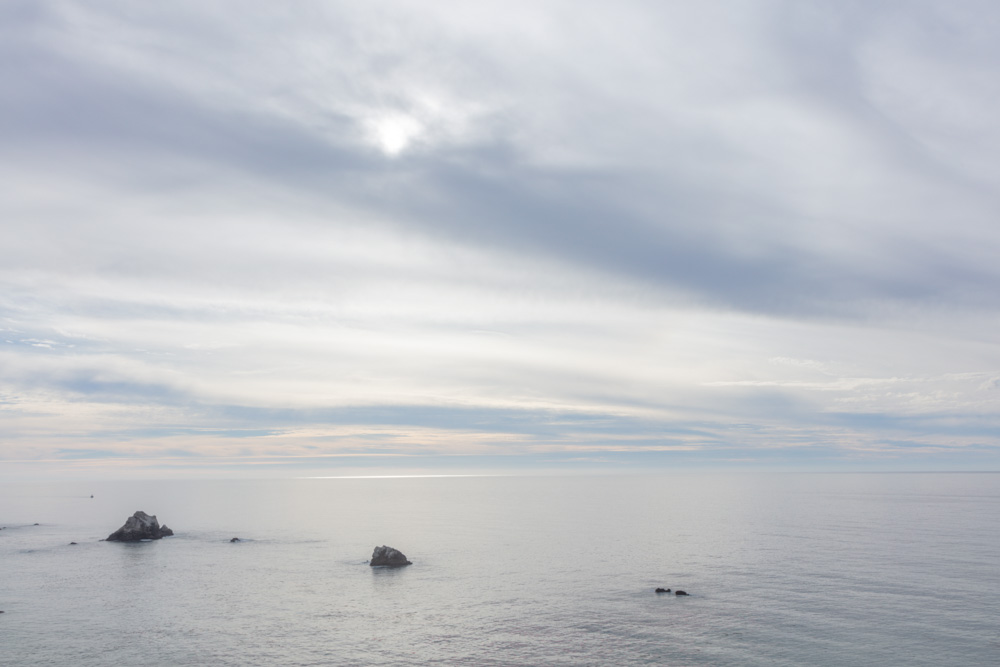 Big Sur Silvery Sky and Sea.