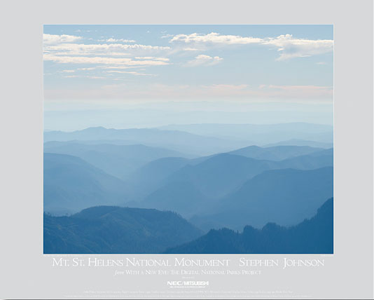 Mt. St. Helens Hills and Haze Poster
