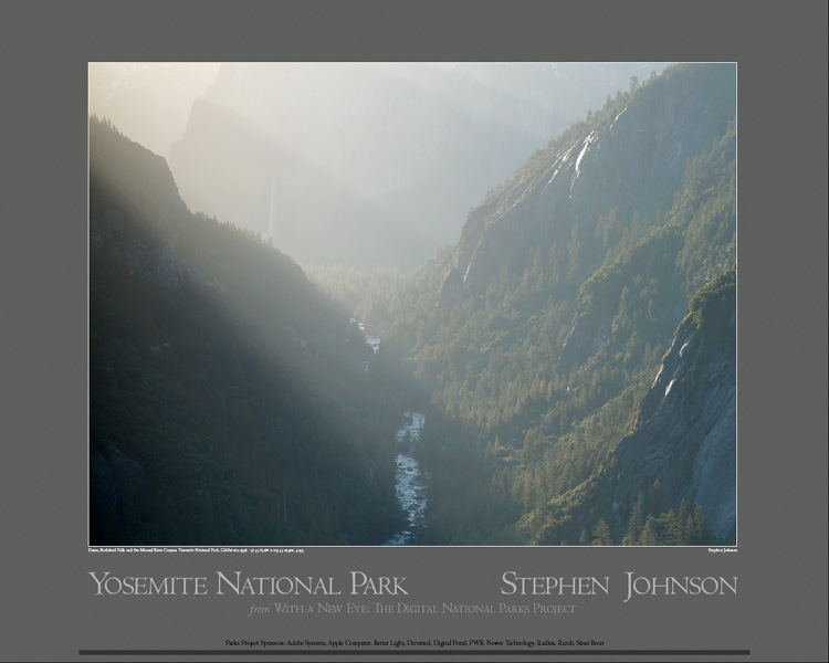 Dawn. Merced River Canyon. Yosemite Poster