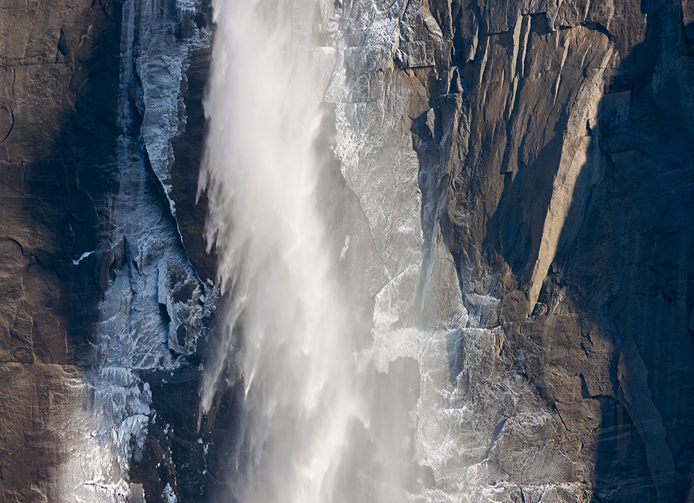 Icy Yosemite Falls. 2011.  Yosemite in Winter Workshop  coming up February 2-4, 2019.   Print Purchase  .