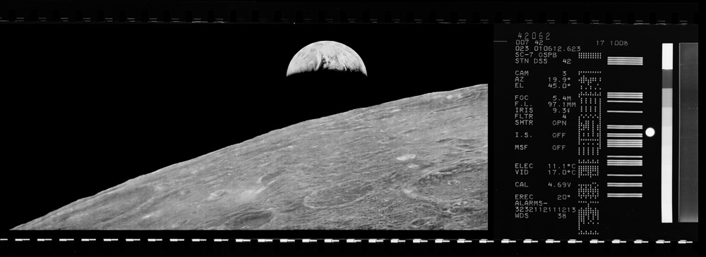 My Lunar Orbiter 70mm film re-construction mock-up.