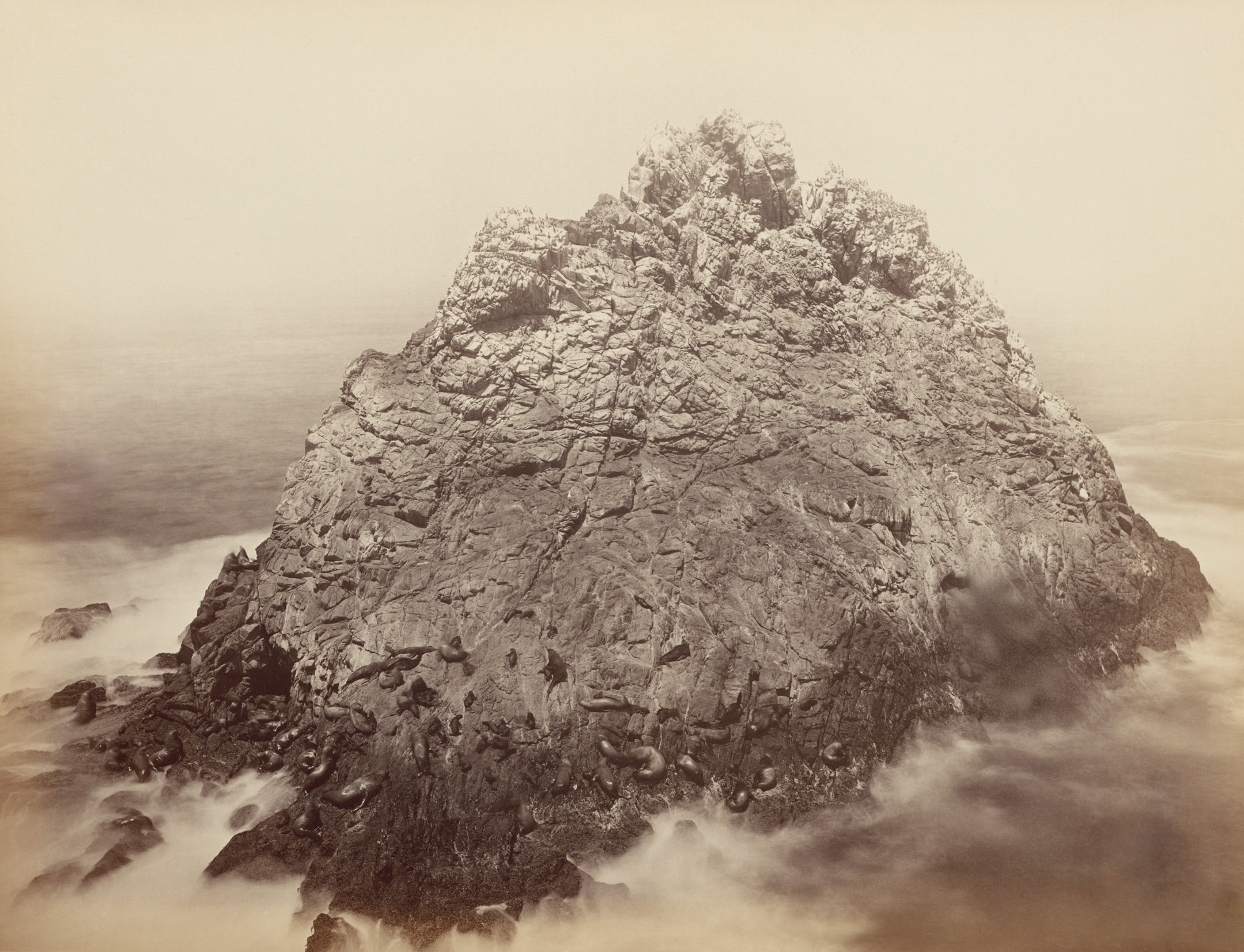 Sugarloaf Rocks. Farallon Islands. Carleton Watkins .