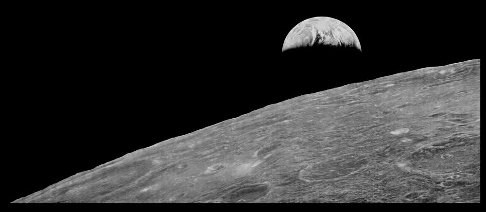 Earth Set. Lunar Orbiter. August 1966. NASA.