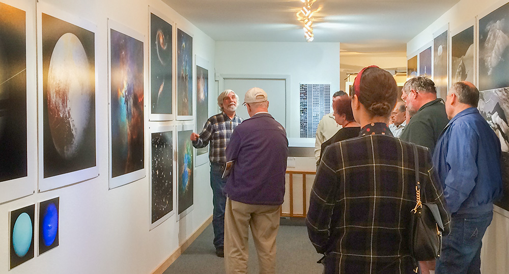 A few of the attendees at the April 30 Space talk at my Gallery. photo by Fiona McDonnell.
