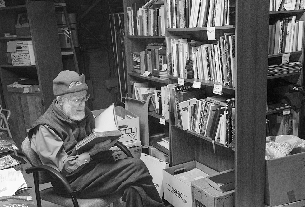 Marsh Pitman in his Monterey Library. 2019.