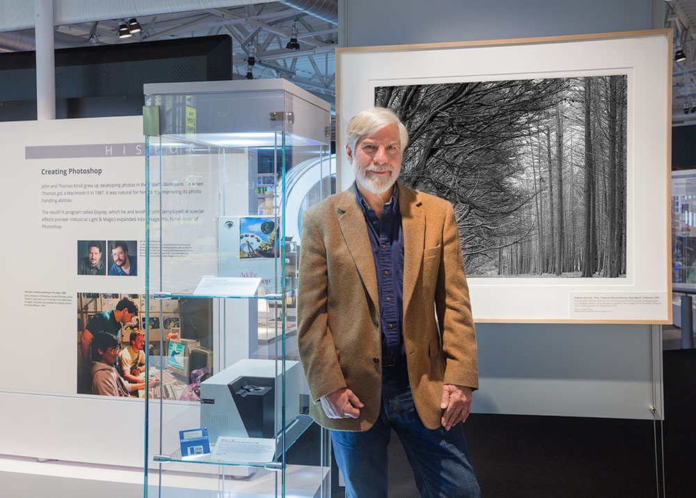 Steve at the Make Software Photoshop Exhibit. Computer History Museum. Mountain View, CA 2017