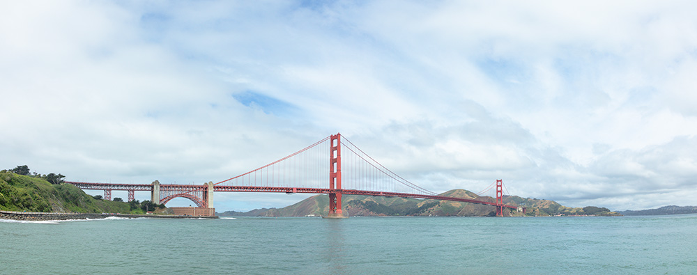 The Golden Gate Bridge. Golden Gate National Recreation Area. 2019. Two Image Pano. Canon EOS 5DS R.