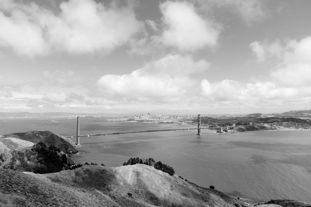 The Classic Marin Headlands View looking back at the Golden Gate and San Francisco. 2019. Canon EOS 5DS R