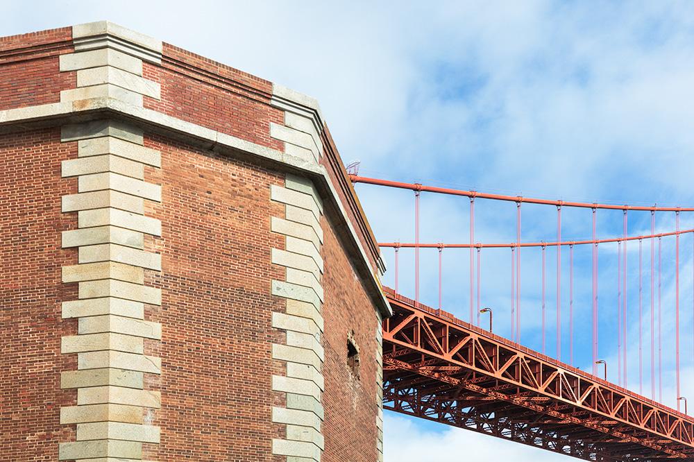 Civil War Fort Point under the Golden Gate Bridge. San Francisco, CA. 2019. Canon EOS 5DS R.