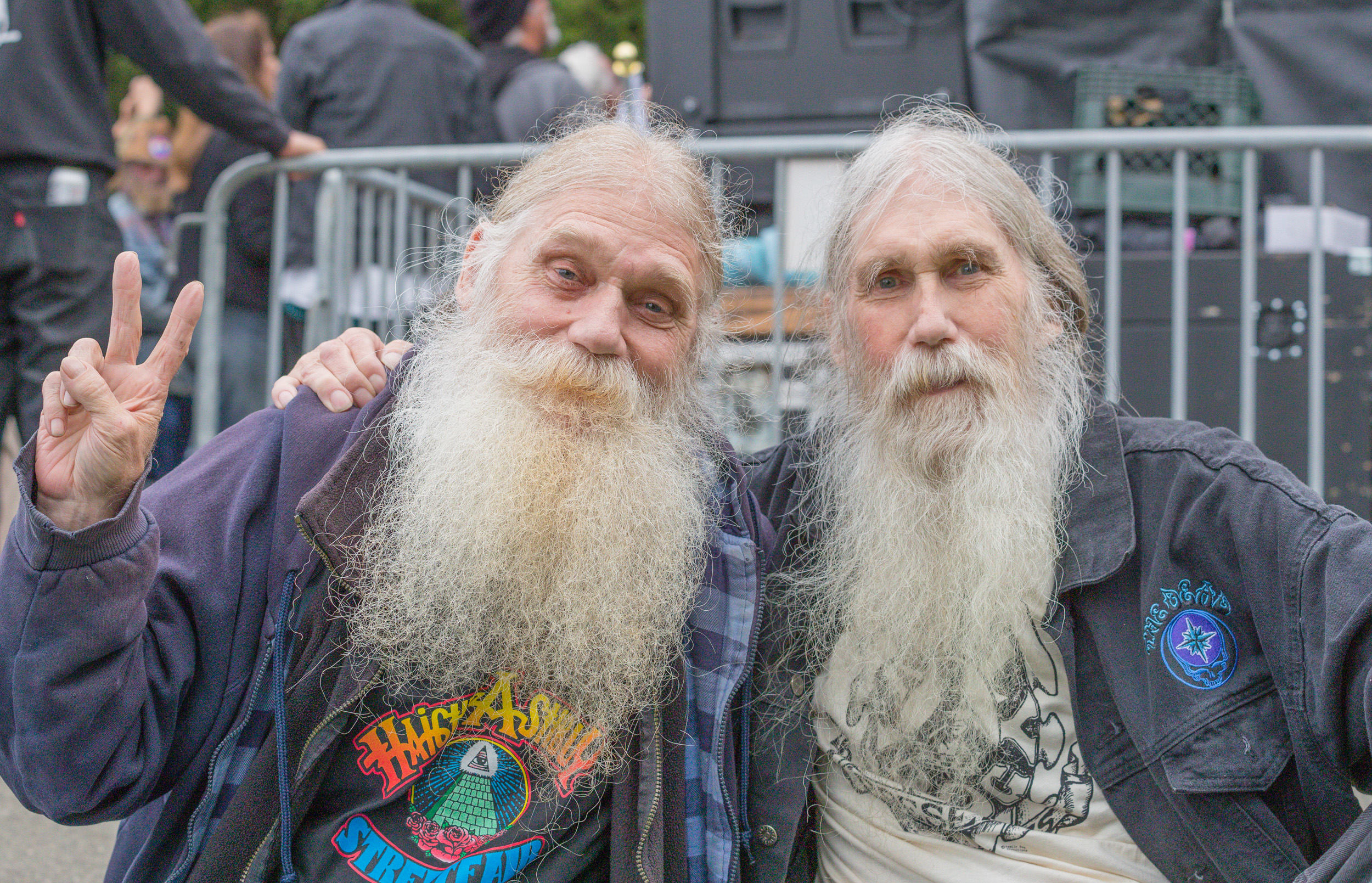 Veterans of the Bay Area Music Business. David and Bill Gerbe (Hippie Bill). When I ask permission to photograph people, I also offer them my card so I can send an image back to them if they reach back. Sometimes I also get a great story of who they are. Bill called after our email exchange and filled me in on a life of concerts in the bay area, from volunteering to working for Bill Graham Productions.  Summer Solstice 3. Golden Gate Park. 2019. Canon EOS 5DS R