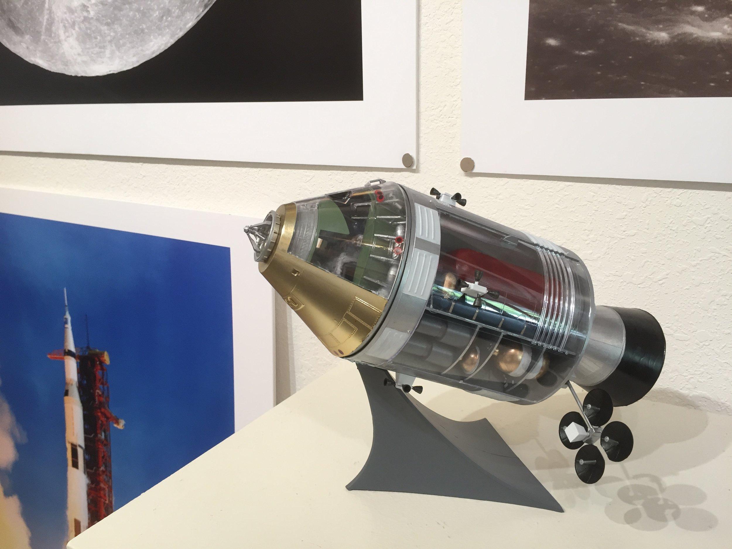 Apollo Command Module Model. Reveal kit built by Alex Dziesinski.