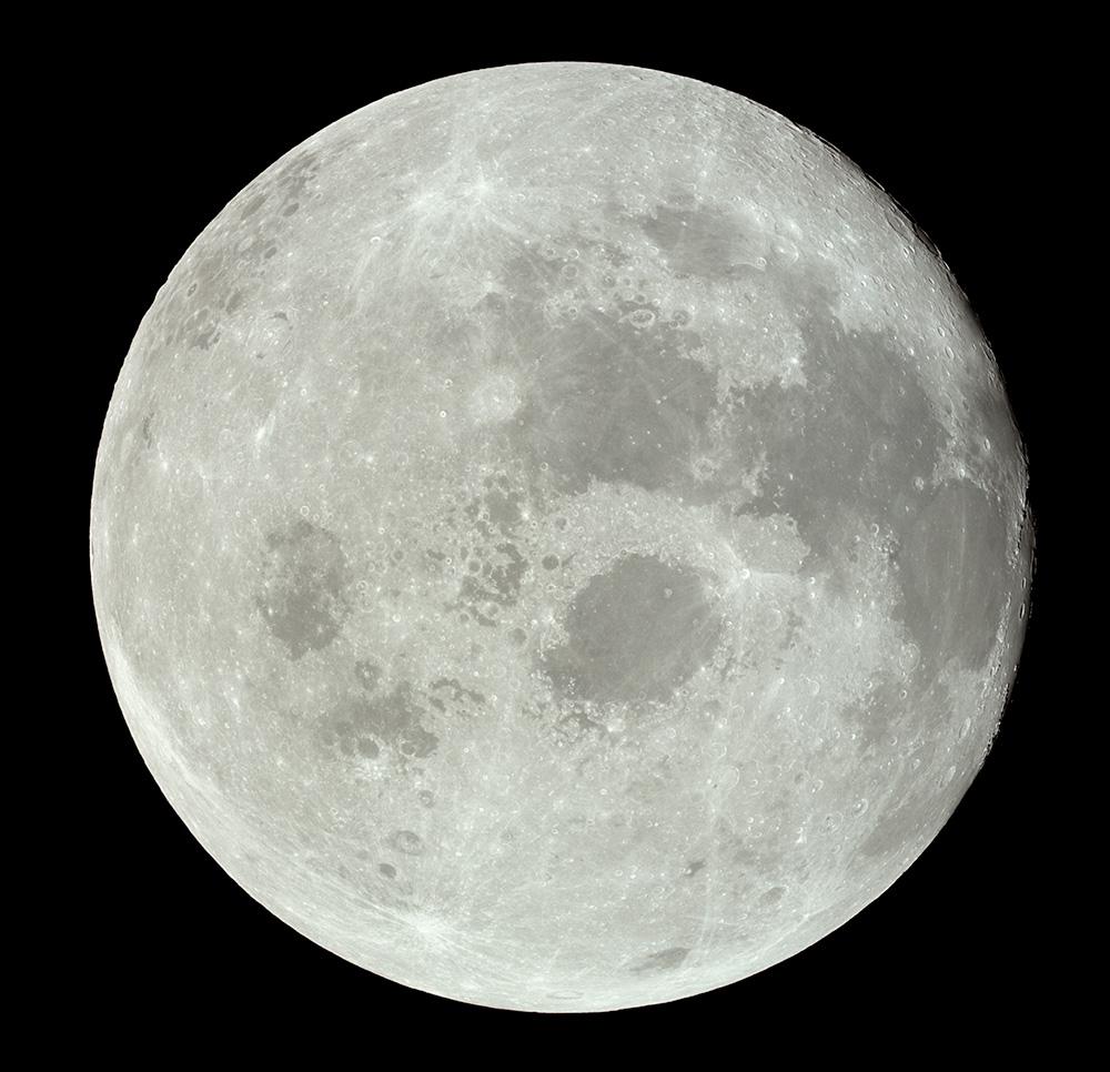 Full Moon. Apollo 11. 1969. NASA.
