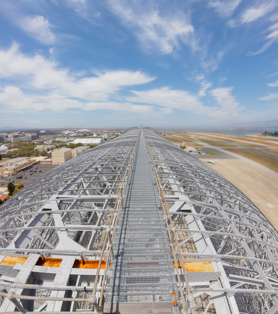 On Top looking toward San Francisco Bay. Hangar 1, Moffett Field. NASA Ames Research Center. 2019. Canon EOS 5DS R