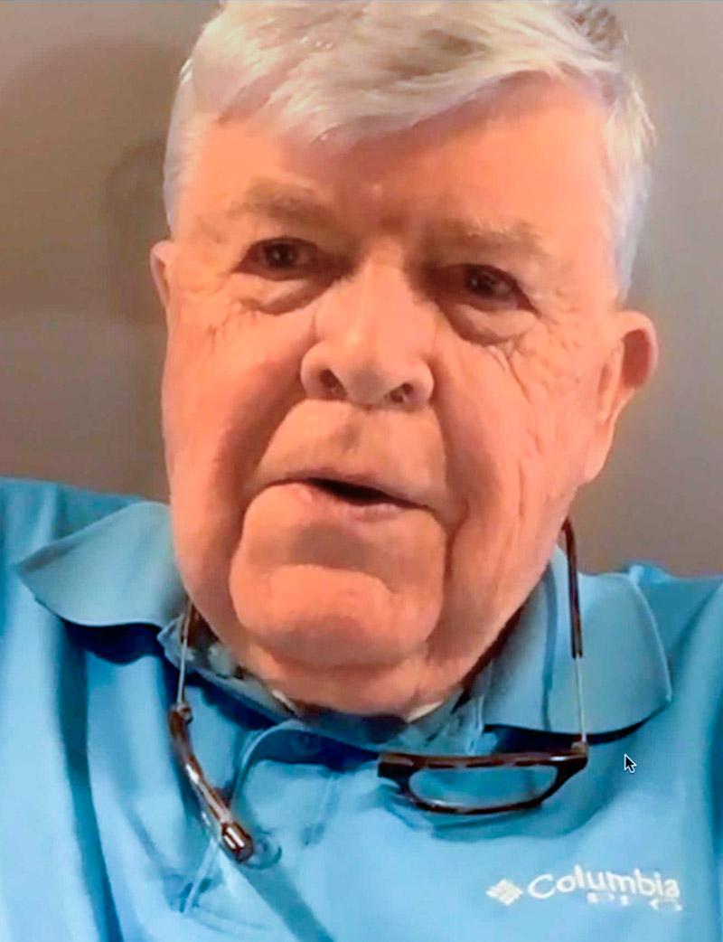 Saturn V Engineer Dr. Eugene Worley called in from Huntsville, AL