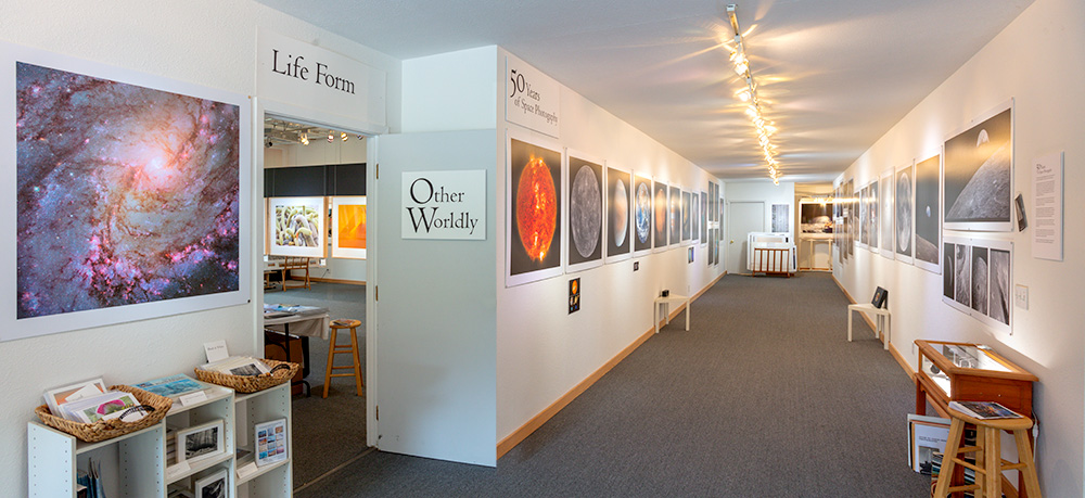 50 Years of Space Photography Exhibition . Stephen Johnson Photography. Pacifica Center for the Arts. 2019