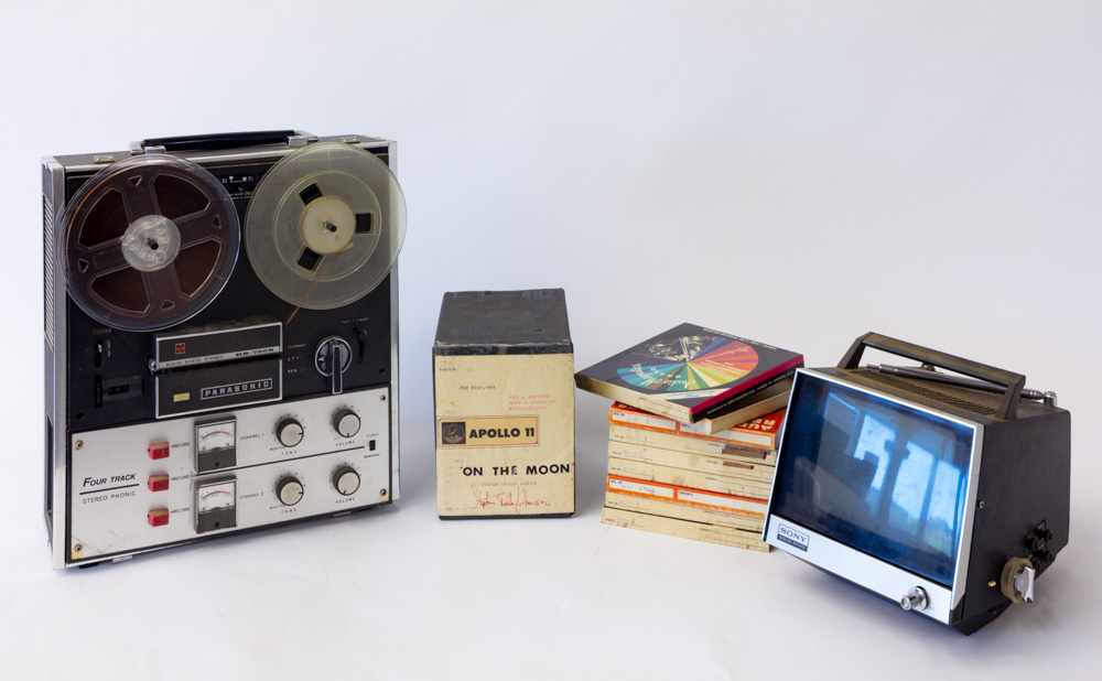 Apollo 11 Recorder and TV System with 80 hours of audio tapes (original equipment).