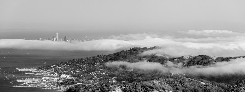 San Franicso and the Marin Headlands from Mt. Tamalpias. 2019. Canon EOS 5DS R.